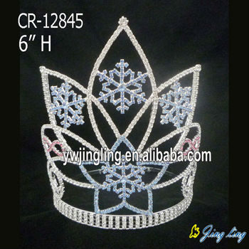 Frozen and snowflake tiara for Christmas pageant