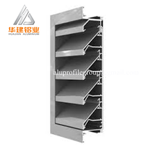 Aluminum louver window and shutter adjustable motorized aluminum airfoil louver windows