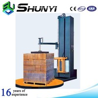 Factory stretch film pallet wrapping machine