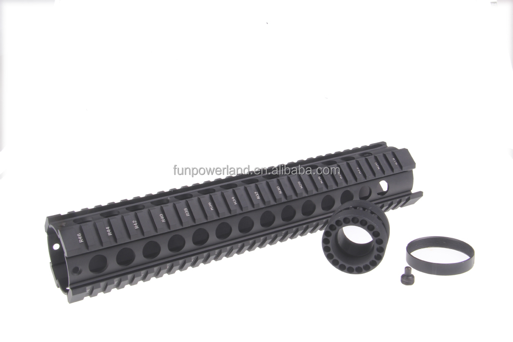 Funpowerland Tactical T-Serie 4/15 Free Float 12 Inch Handguard Quad Rail Scope Mount