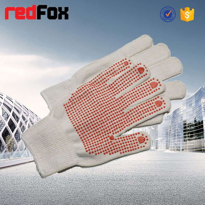 industrial use protective safety pvc cotton work glove