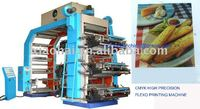 2,4,6,8 colors High Speed Flexo Printing Machine To Print Film And Paper In Roll
