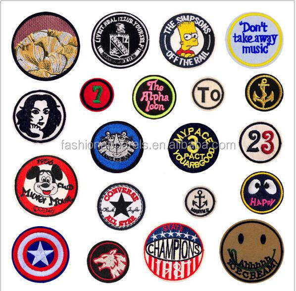 Embroidered Brand Logo Custom Embroidery Patch Sew On / Iron For Clothing