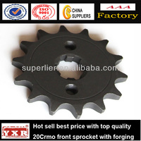 China manufacturer motorcycle spare parts driven sprockets for CBX250 TWISTER /TITAN/CG-125/NXR125BROS
