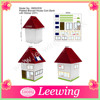 Plastic House Piggy Bank Sticker DIY House Piggy Bank