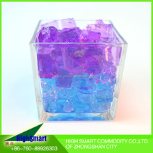 hot sex color crystal vase decoration water cube polymer clay for girls wedding