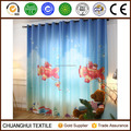 100% polyester flying in the sky 3D printed custom made curtain