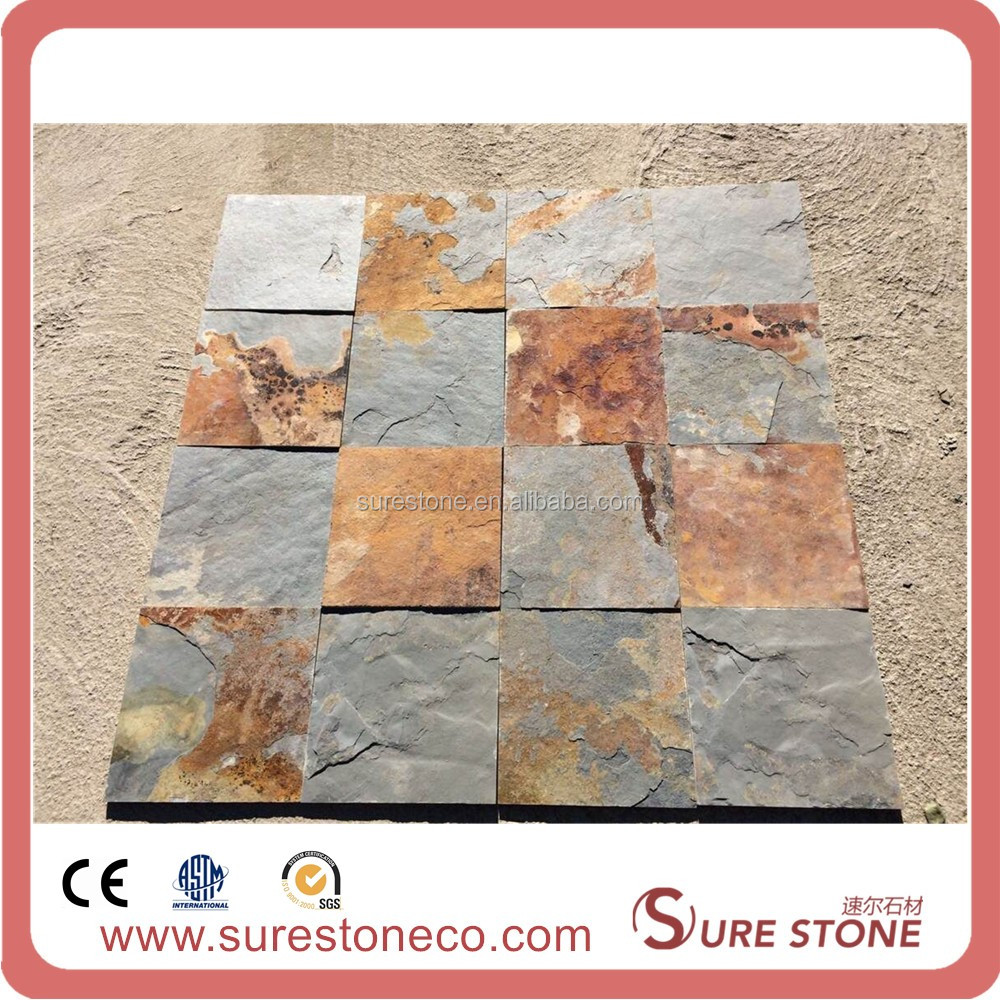 Natural Rusty/Muticolor Slate Paving Tiles