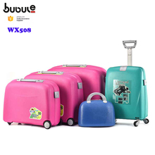 BUBULE wholesale 5 piece cheap luggage suitcase set trolley and truck with cosmetic box set