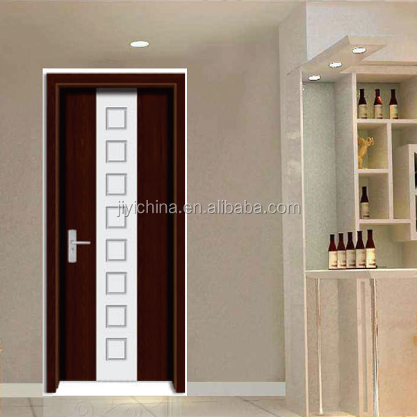 2017 China market and South America market hot sale PVC dolding wooden Door platic door with high quality