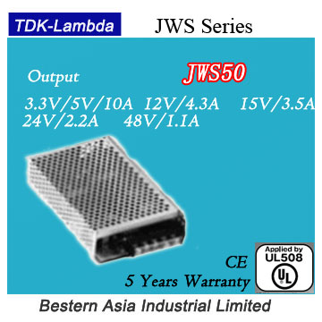 TDK Lambda JWS50-15 15V 50W power supply