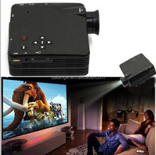 Front Best Choice Mini Led Lcd Projector with HDMI / USB / AV / VGA / SD/ 12v power Video Game LED portable projector