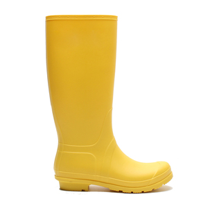 Factory direct wholesale women cheap yellow rain boots with side zipper