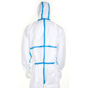 LiJun factory Disposable microporous film SF coverall with hood