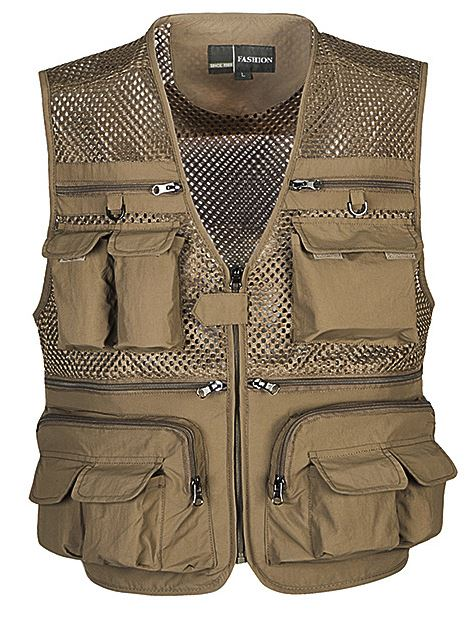 MOON BUNNY Male outdoor hunting camping multi pocket vest Men's military army sleeveless jacket waistcoat Men journalist vest wh