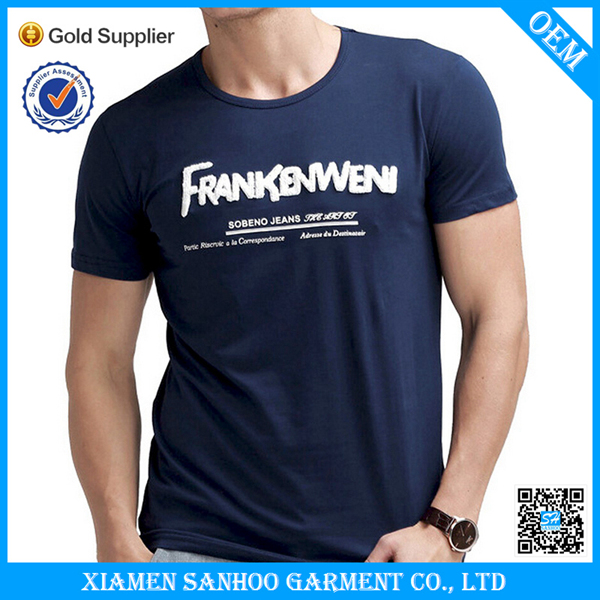 Wholesale top quality fabric t shirt plain slim fit print for Best quality shirts to print on