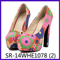 latest lady platform shoes ankara wax high heel shoes african wax shoes and bags