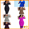 6Colors New collection clothes factory readymade Low price sexy deepV Collect waist Package buttocks sexy dresses for sexy women
