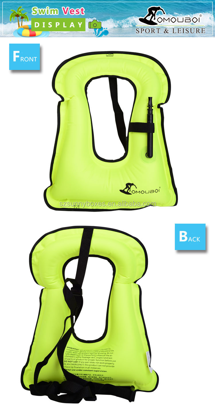 New Arrival Kids Size Floatage Swimming Vest Portable Inflating Life Jacket Super Light Buoyancy Float Ring Snorkeling Equipment