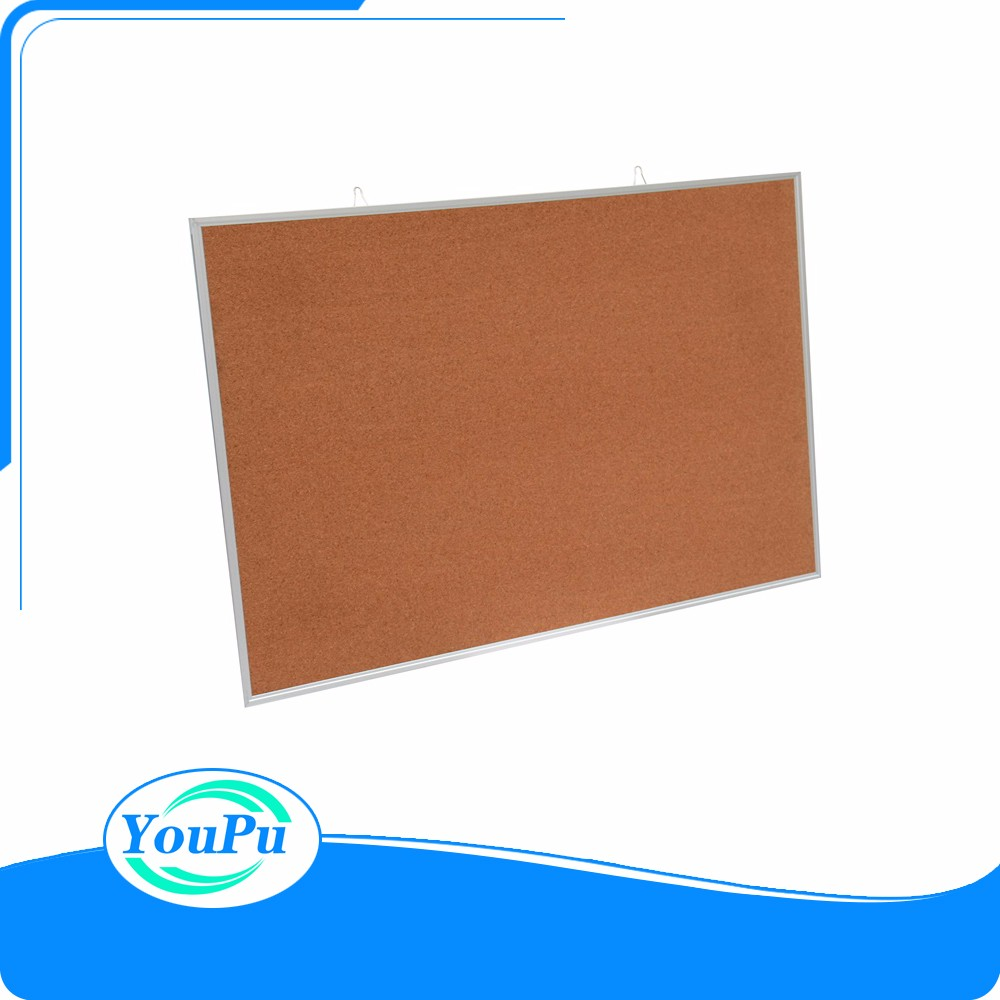 Aluminum frame cork board with push pins for noticeboard