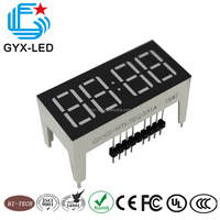 black face white segment 4 digit landry machine LED display
