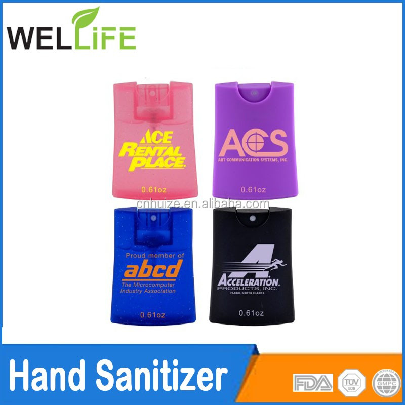 Card sharp case hand sanitizer with fragrance hand disinfectants