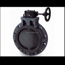 butterfly valve gear operator- full flanged type price butterfly valve