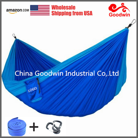 Nylon camping hammock-Best hammock made of parachute used for hiking travelling and patio
