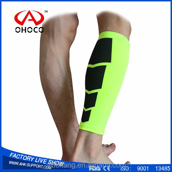 custom colorful unisex sport leg supports compression calf sleeves
