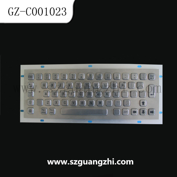 Stainless steel Kiosk Keyboard with Trackball and Numeric Keypad GZ-C001023