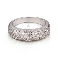 AAAAA Cubic Zirconia Silver Rings For