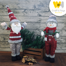 new design standing christmas santa snowman for christmas decoration