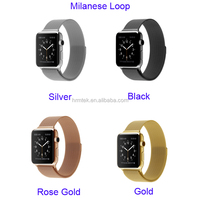 Wholesale Multi Colors Magnetic Closure Milanese Loop Stainless Steel Band for Apple Watch