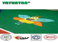 rubber outdoor basketball court flooring coating