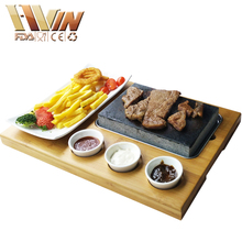 Lava Rock Cooking Stone Set Natural Steak Grill Lava Stone Cooking Pot