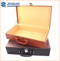 High grade custom Order pine wood or Faux Leather empty clothes box