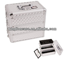 silver aluminum hair stylist professional beauty case KL-H473