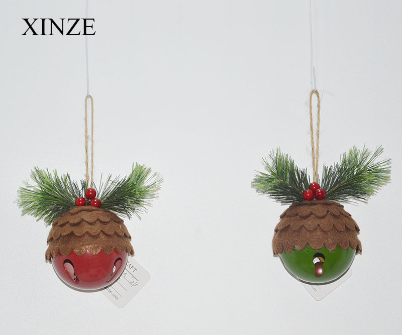 Fashion Promotional christmas outdoor decoration bells hanging ornament