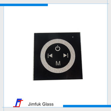 Flat touch wall switch tempered crystal squre glass panel