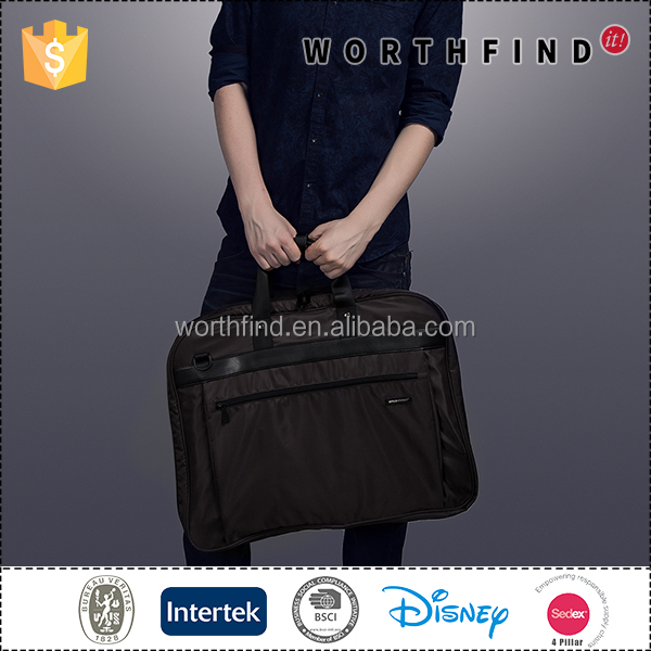 Custom design eco-friendly foldable polyester suit garment bag