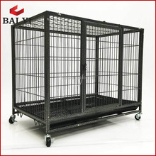Heavy duty portable square tube dog cage
