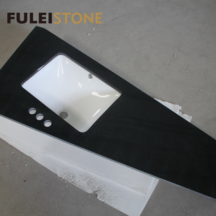 Absolute Black Granite Polished Kitchen Countertop