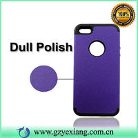 High Quality PC Silicone Hybrid Cover Case For iPhone5 Hard Cover