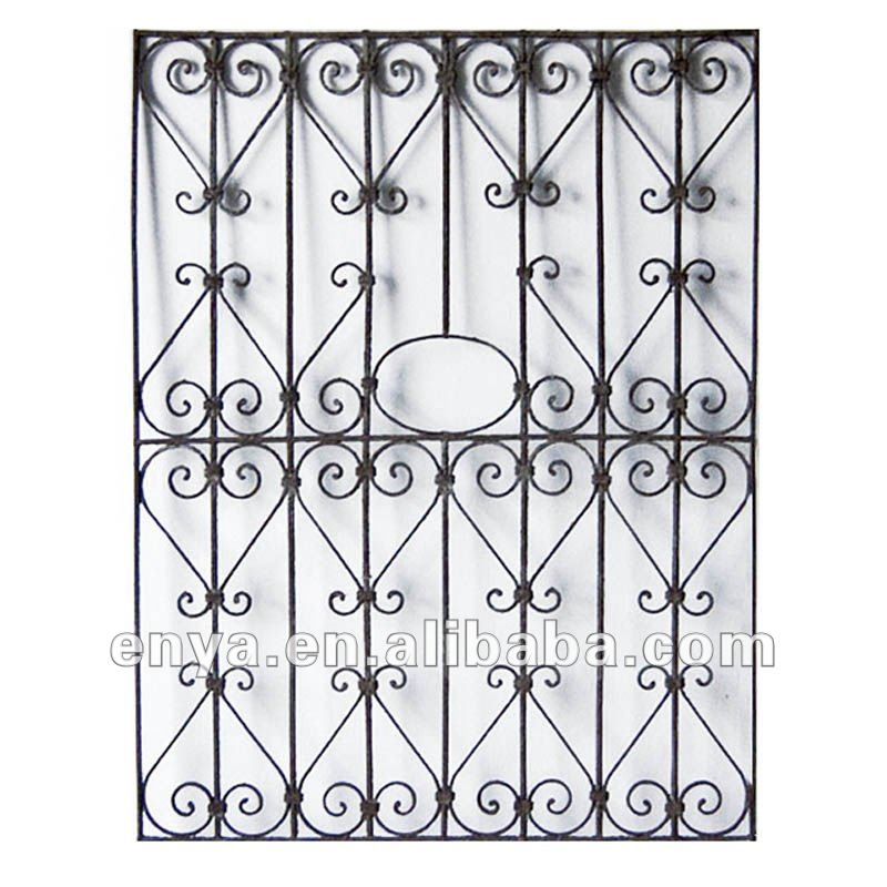 Wrought Iron Window Grille, Ornamental Grill, Antique Reproduction