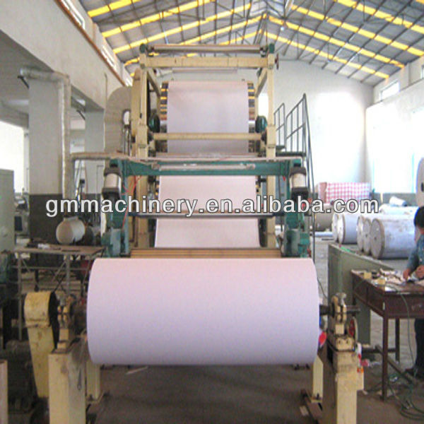 10-20 TPD 2400mm copy paper/offset paper/book paper/newspaper making machinery, equipment for the production of paper a4