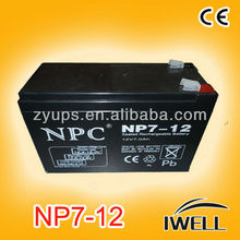 Small UPS Battery Lead Acid Battery 12v 9ah Rechargeable Battery