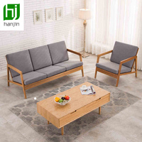 DicksonSolid bamboo three fashionable sitting room sofa cloth art sofa contracted Nordic trio sofa