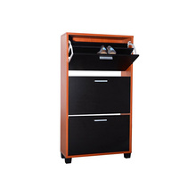 Stylish KD Structure Metal Shoe Cabinet Storage 3 Tier Shoe Cabinet on Sale