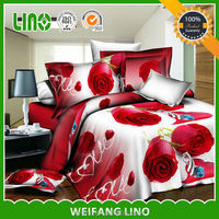 comfortable 4pcs king size 3d bedding set colchas 3d