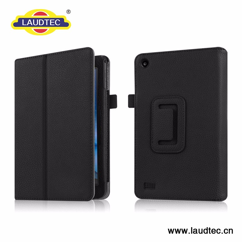 New Arrival High Quality Pu Flip Leather Cover Case for Kindle Fire Hdx